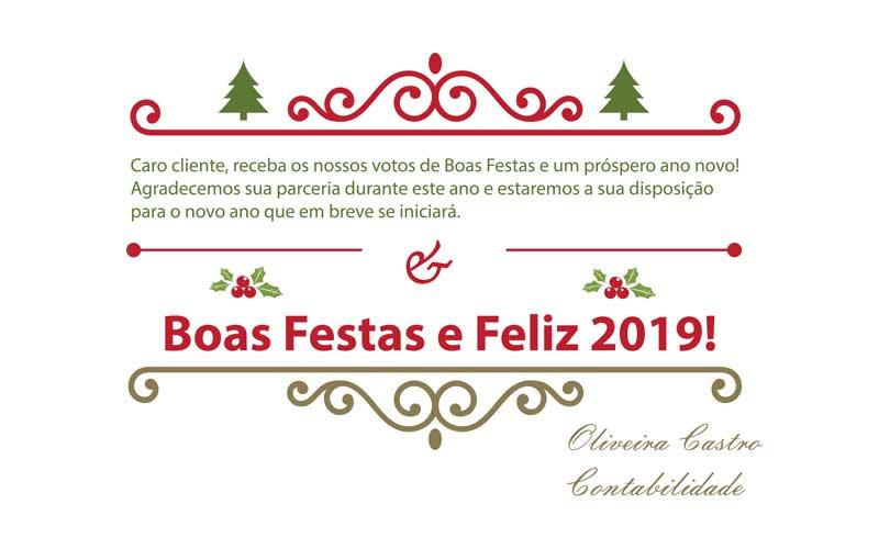 Boas Festas E Feliz 2019!