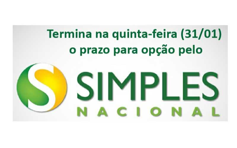 Termina Na Quinta-feira (31/1) O Prazo Para Opção Pelo Simples Nacional