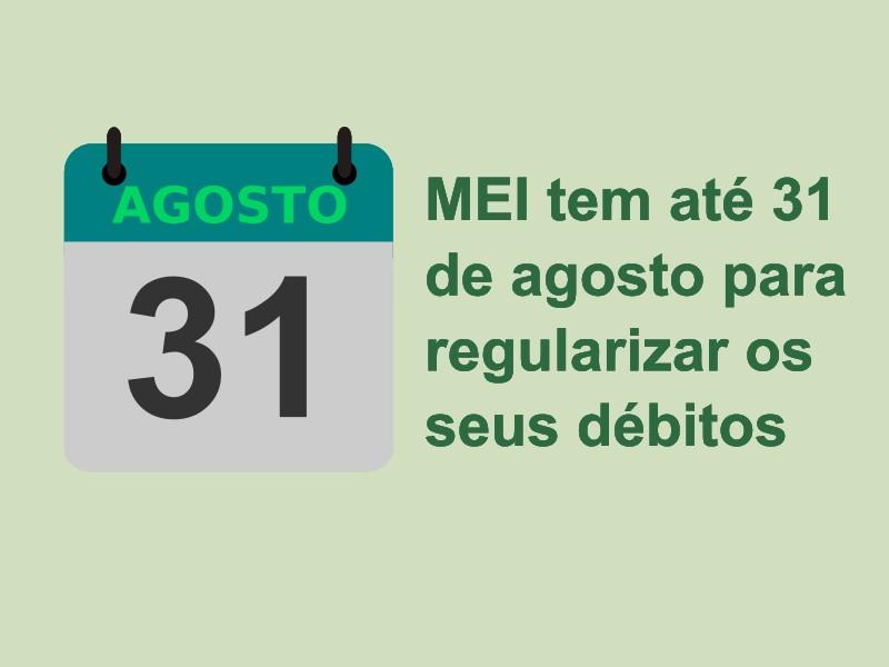MEI Tem Ate 31 De Agosto Debitos
